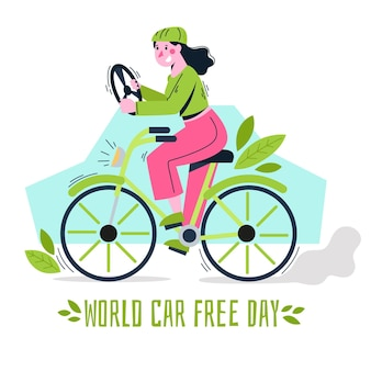 Desenho de dia livre de carro mundial