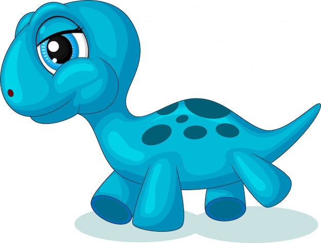 Desenho de dinossauro pequeno bonito