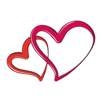 Desenho de dois corações