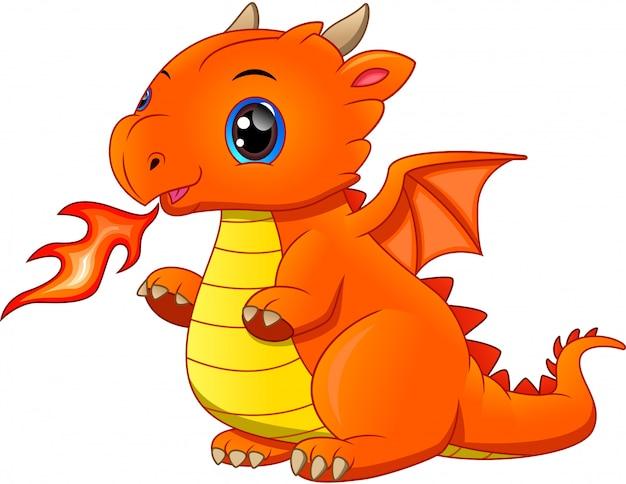 Desenho de dragão bebê fofo