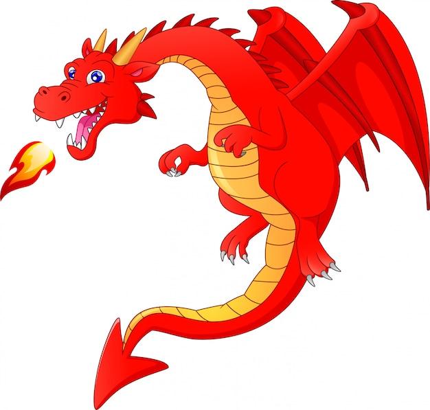 Desenho de dragão fofo