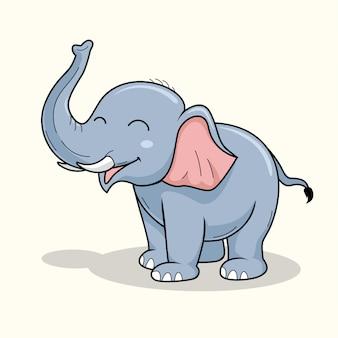 Desenho de elefante bonito