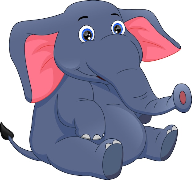 Desenho de elefante fofo