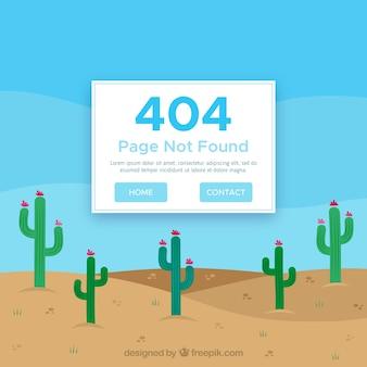 Desenho de erro 404 com deserto