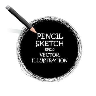Desenho de esboço com lápis.