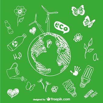 Desenho de esboço goobe ecologia