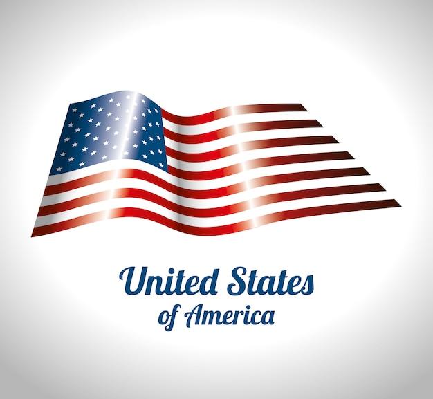 Desenho de estados unidos da américa
