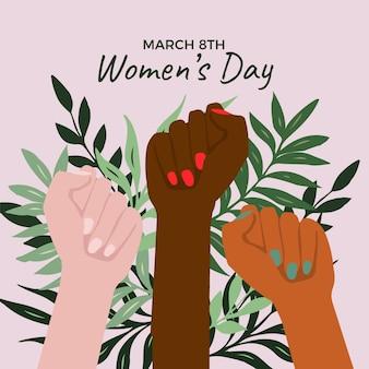 Desenho de evento do dia das mulheres