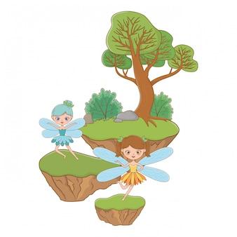Desenho de fada da ilustração de conto de fadas