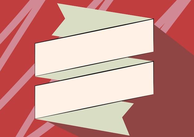 Desenho de faixa de papel dobrado em zigue-zague desenho de marcador de papelão dobrável mostrando irregular