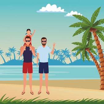 Desenho de férias de verão