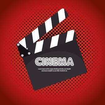 Desenho de filme do festival de cinema de claquete de desenhos animados