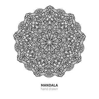 Desenho de flor de mandala