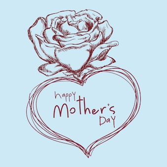 Desenho de flor feliz dia das mães bonito