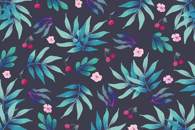 Desenho de flores coloridas desabrochando
