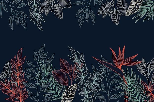 Desenho de flores no conceito de fundo de quadro-negro