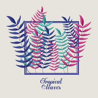 Desenho de flores tropicais