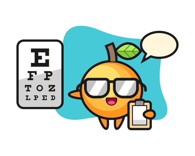 Desenho de fruta laranja como oftalmologia