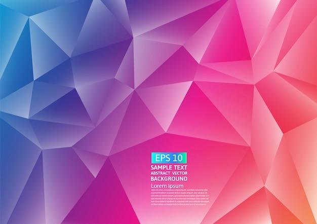 Desenho de fundo abstrato colorido polígono