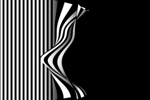 Desenho de fundo abstrato preto