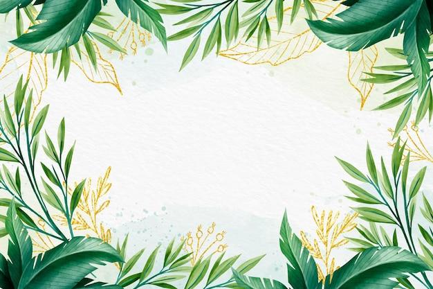 Desenho de fundo com folha dourada