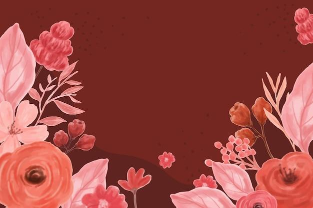 Desenho de fundo com folhas e flores