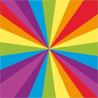 Desenho de fundo com raios arco íris