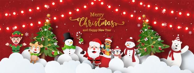 Desenho de fundo com tema natalino