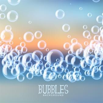 Desenho de fundo de bolhas de água com sabão