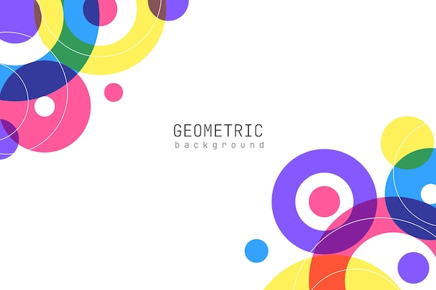 Desenho de fundo de desenho geométrico colorido