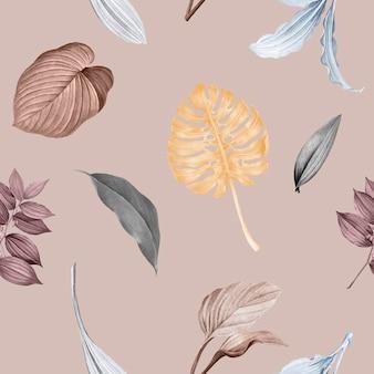 Desenho de fundo de folhas tropicais