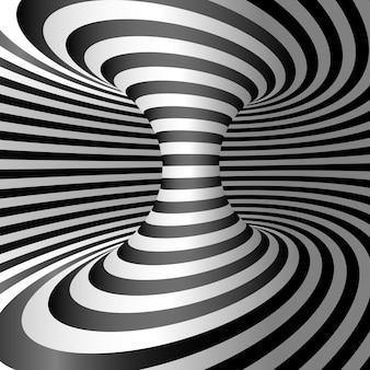 Desenho de fundo de ilusão de ótica