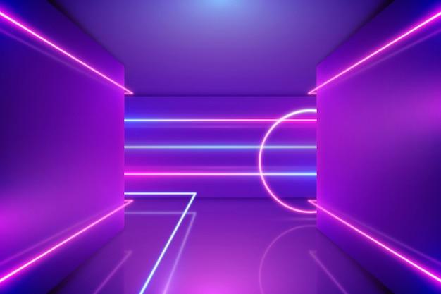 Desenho de fundo de luzes de néon