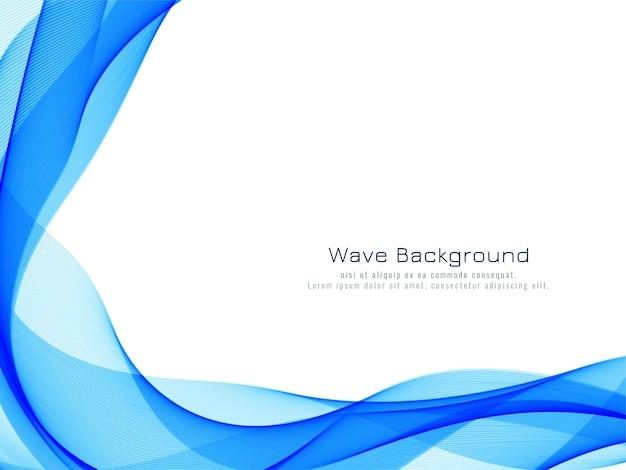 Desenho de fundo de onda azul elegante