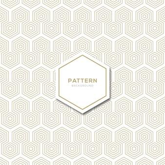 Desenho de fundo de padrão de linha hexagonal