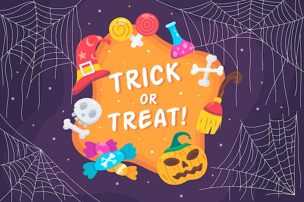 Desenho de fundo de teia de aranha para halloween