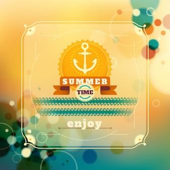 Desenho de fundo de verão