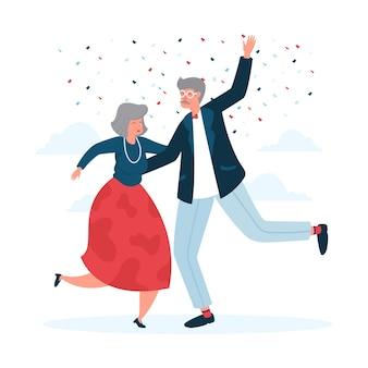 Desenho de fundo dia internacional das pessoas idosas
