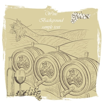 Desenho de fundo do vinho