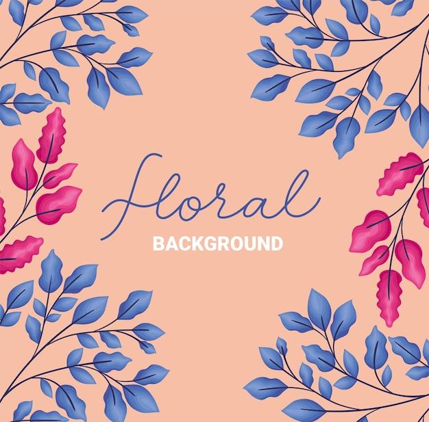 Desenho de fundo floral