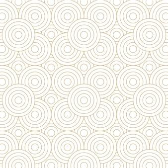 Desenho de fundo padrão de círculo dourado