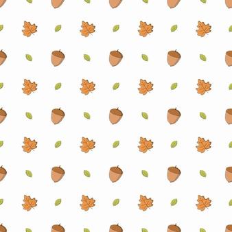 Desenho de fundo padrão de outono para embalagem