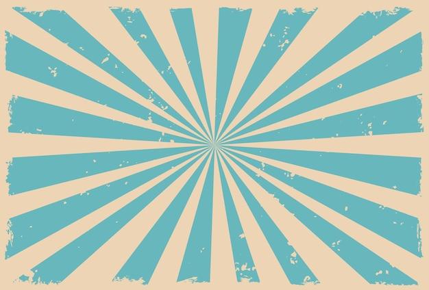 Desenho de fundo retrô sunburst