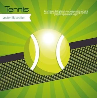 Desenho de fundo verde de bola de tênis