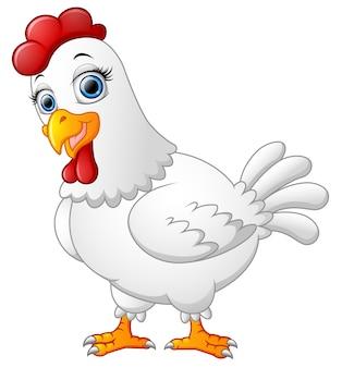 Desenho de galinha isolado no fundo whte