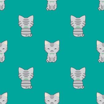 Desenho de gatinho padrão sem emenda de gato