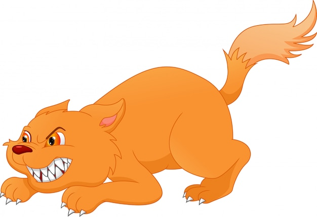 Desenho de gato bravo