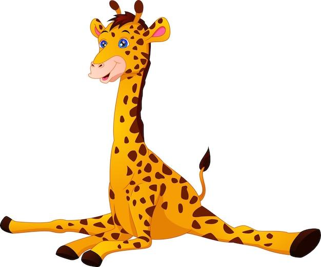 Desenho de girafa fofo