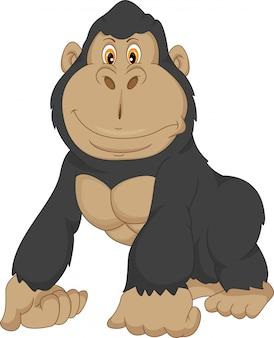 Desenho de gorila bebê