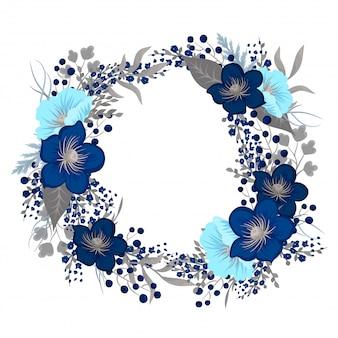 Desenho de grinalda floral